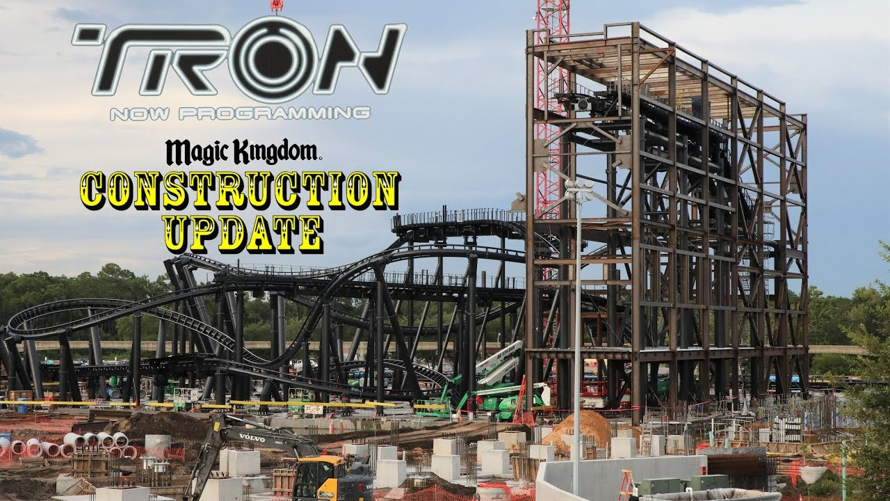 Tron Roller Coaster At Magic Kingdom Construction Update 8 6 19 Building Buildings