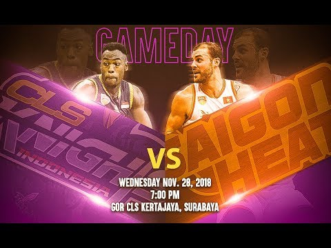 CLS Knights Indonesia v Saigon Heat | LIVE NOW | 2018-2019 ASEAN Basketball League