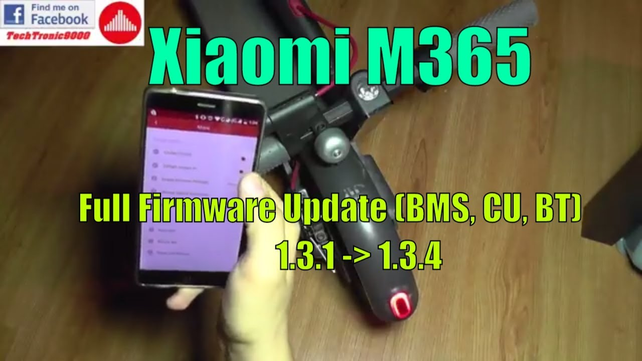 Xiaomi M365 Firmware Upgrade 1 3 1 to 1 3 4 (BMS, Control Unit, Bluetooth  Module)