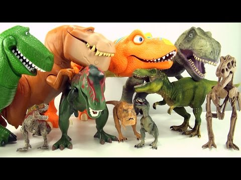 10 terrifying tyrannosaurus toys - Dinosaur collection of Tyrannosaurus Rex - T-Rex toys for kids