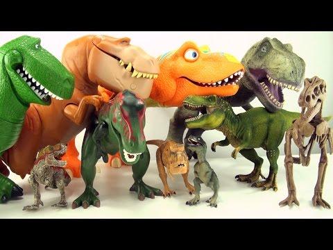 10 terrifying tyrannosaurus toys - Dinosaur collection of Tyrannosaurus Rex - T-Rex toys for kids