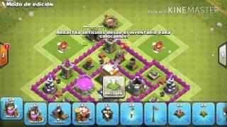 Clash Of Clans | Diseño para th6 con trampa de hielo