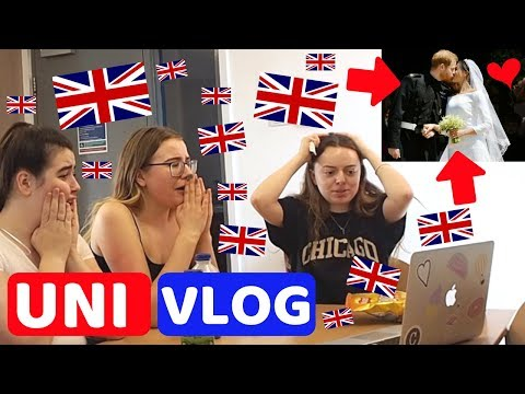 UNI VLOG | 2nd Exam FAIL & Reacting to the Royal Wedding!!