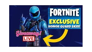 *New* Fortnite Honor Guard Skin For Free! GIVEAWAY LIVE!