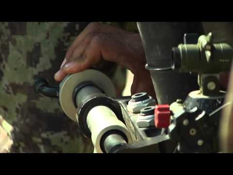 US Soldiers Teach ANA Soldiers How to Fire a 60mm Mortar - Afghanistan