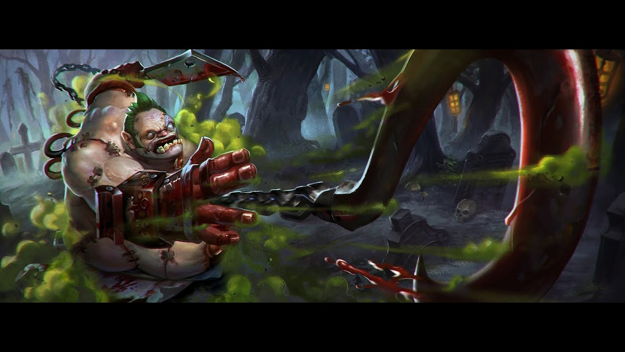 dota 2 pudge shows style on 1vs1 mortal kombat theme youtube