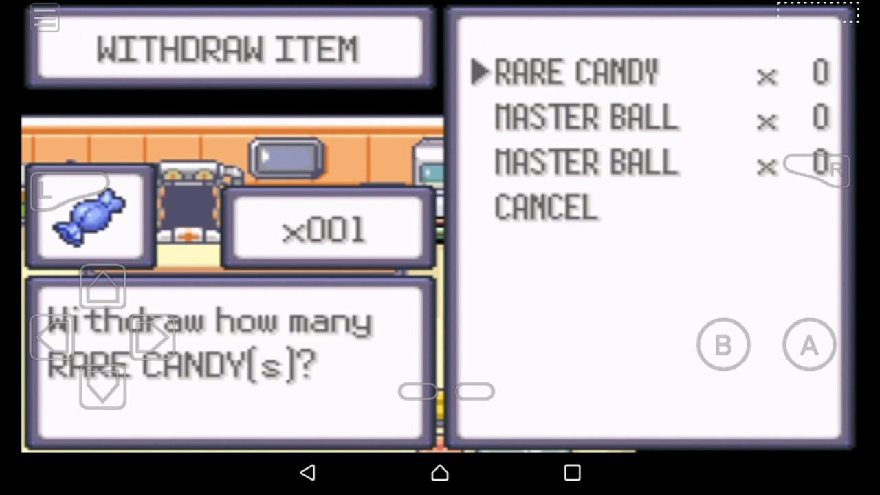 cheats for pokemon theta emerald ex