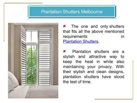 Plantation Shutters & Venetian Blinds in Melbourne - YouTube