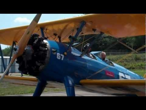 Smethport Fly-Over in a 1943 Boeing Stearman Biplane