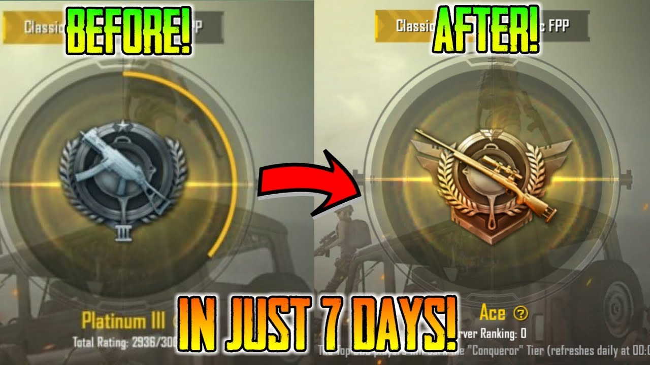 How To Push Platinum To Ace In Just 7 Days | 10 Secret Tips For Pushing To  Ace | Pubg Mobile - YouTube