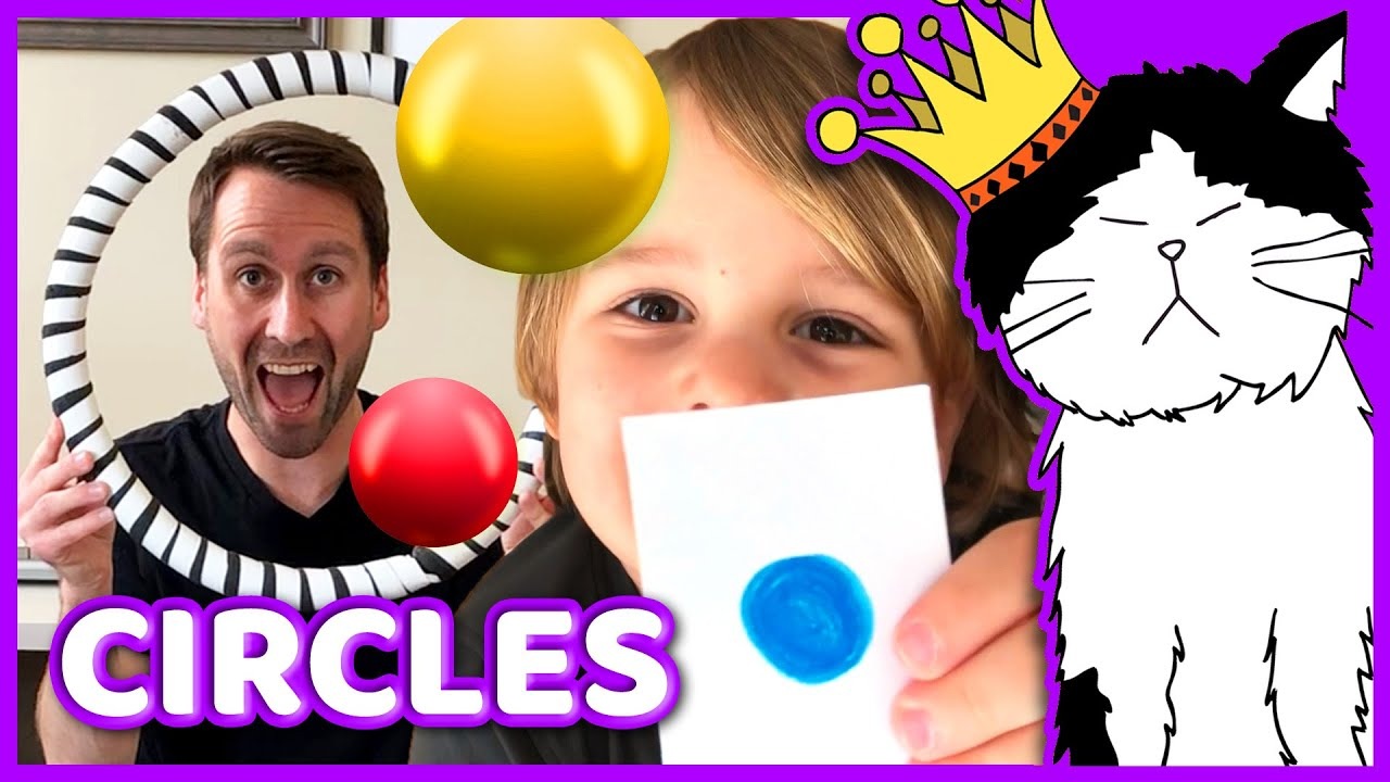 🟣 CIRCLES! | Post Malone (Cover) | Mooseclumps: Home Edition | Learn Shapes Song for Preschool