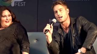 Cute, cute, cute Justin Hartley at This is Us Q&A