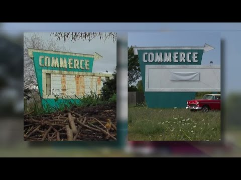 New life for Commerce Township drive-in sign