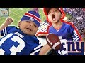 KIDS FIRST FOOTBALL GAME ON VACATION! NY GIANTS FOOTBALL! TOUCHDOWN! DINGLEHOPPERZ VLOG