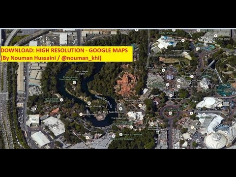 Download Google Earth High Resolution Maps - YouTube on