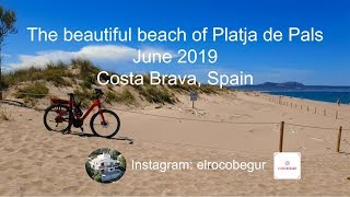 The beautifull beach of Platja de Pals (Pals beach), Costa Brava, Spain.
