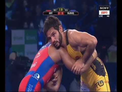 PWL 3 Day 11: Amit Dhankar Vs Bajrang Punia at Pro Wrestling League 2018 | Full Match