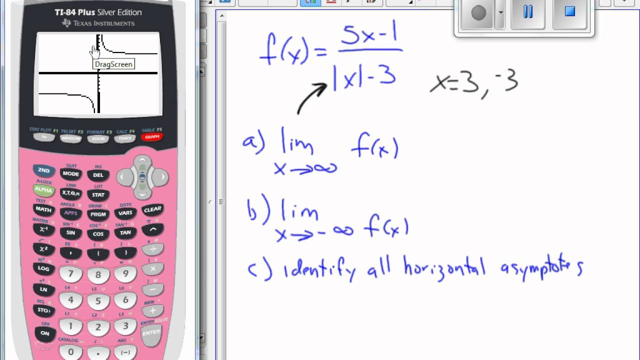 use calculator graph and table to find limits as x approaches