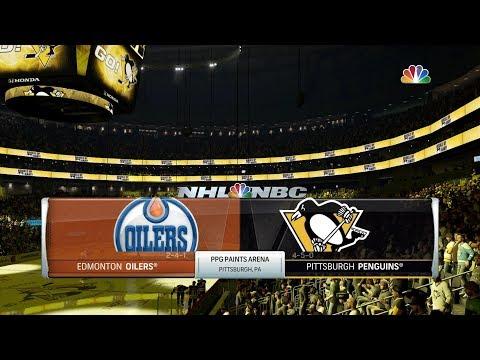 NHL 18|Pittsburgh Penguins Season|Game 10 vs Edmonton Oilers (CPU vs CPU)