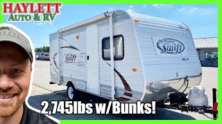 ONLY 2,745LBS!! 2014 Jayco 184BH Jay Flight Mini Bunkhouse Used Travel Trailer