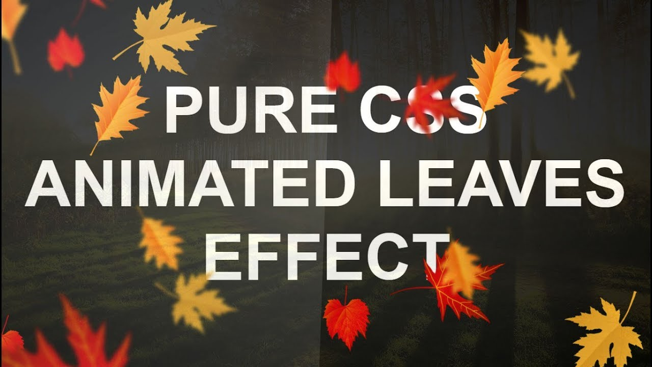 Pure Css Leaves Animation Effects Latest Html And Effect Tutorial