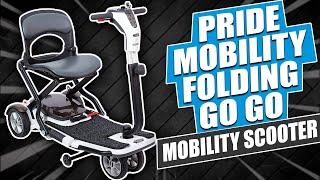 Pride Mobility   Folding Go Go Mobility Scooter