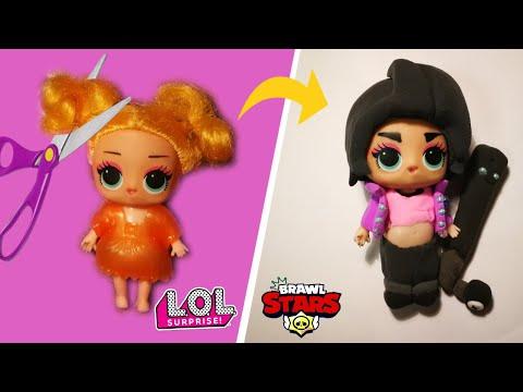 Идея для старой куклы ЛОЛ Сюрприз | Биби из Бравл старс | Bibi from Brawl Stars - Видео онлайн