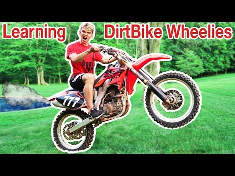 Thumbnail: TEACHING ME TO DIRTBIKE WHEELIE!!