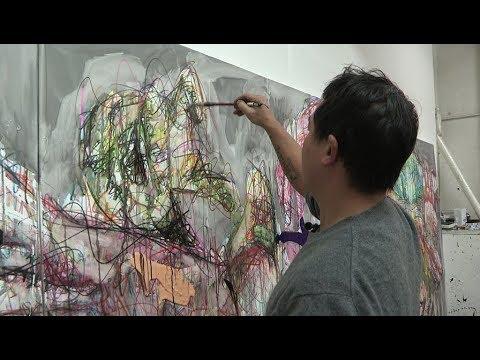 Portrait de l'artiste peintre Hom Nguyen
