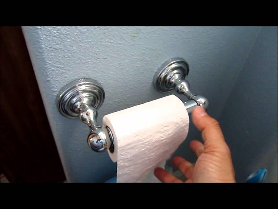 Toilet paper holder installation video - YouTube