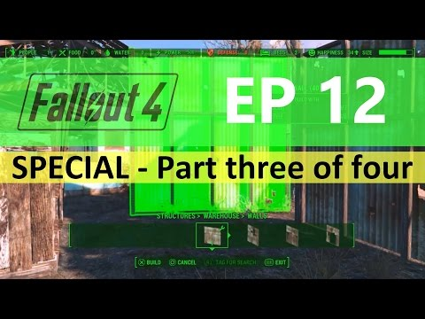 Fallout 4 : EP12 - Food facility FULL build - Part three of four