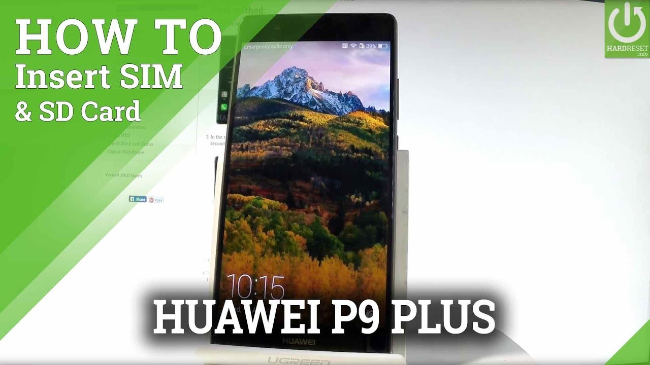 How to Insert SIM & SD in HUAWEI P9 Plus - Nano SIM & Micro SD Slot