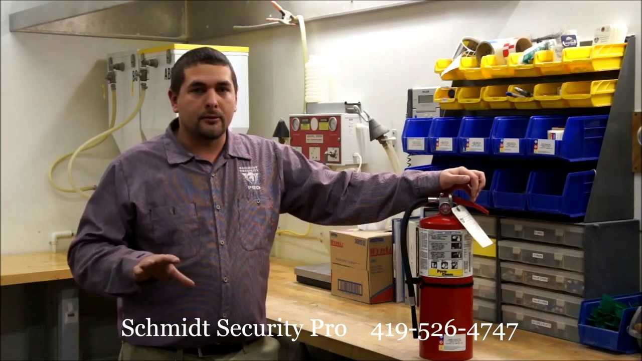 How to perform a monthly fire extinguisher inspection - YouTube