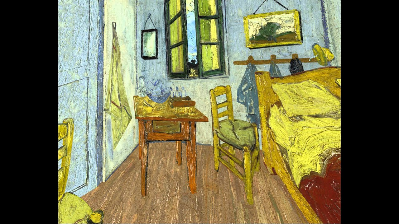 Bedroom at Arles Van Gogh VR flythrough   YouTube. The Bedroom Van Gogh Painting. Home Design Ideas