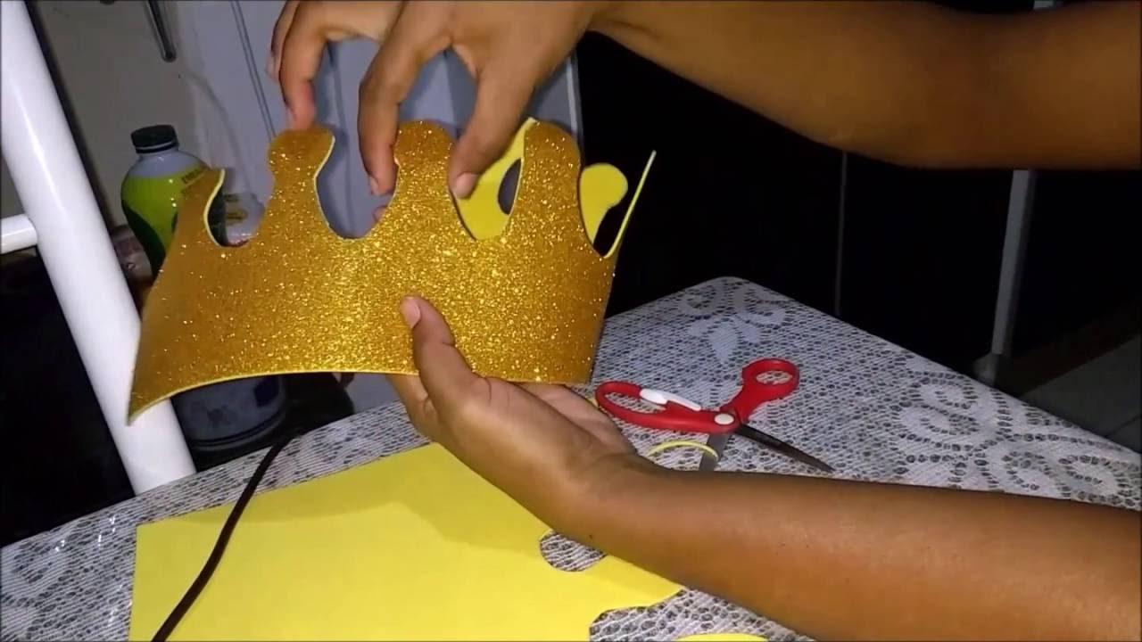 Como fazer coroa de EVA para o quarto do seu bebe  YouTube