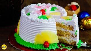 Pineapple Cake Recipe  Cake Recipe in Hindi  No Oven Cake Recipe by MintsRecipes