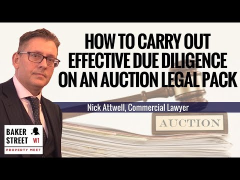 #116 - How to Carry Out Effective Due Diligence on an Auction Legal Pack