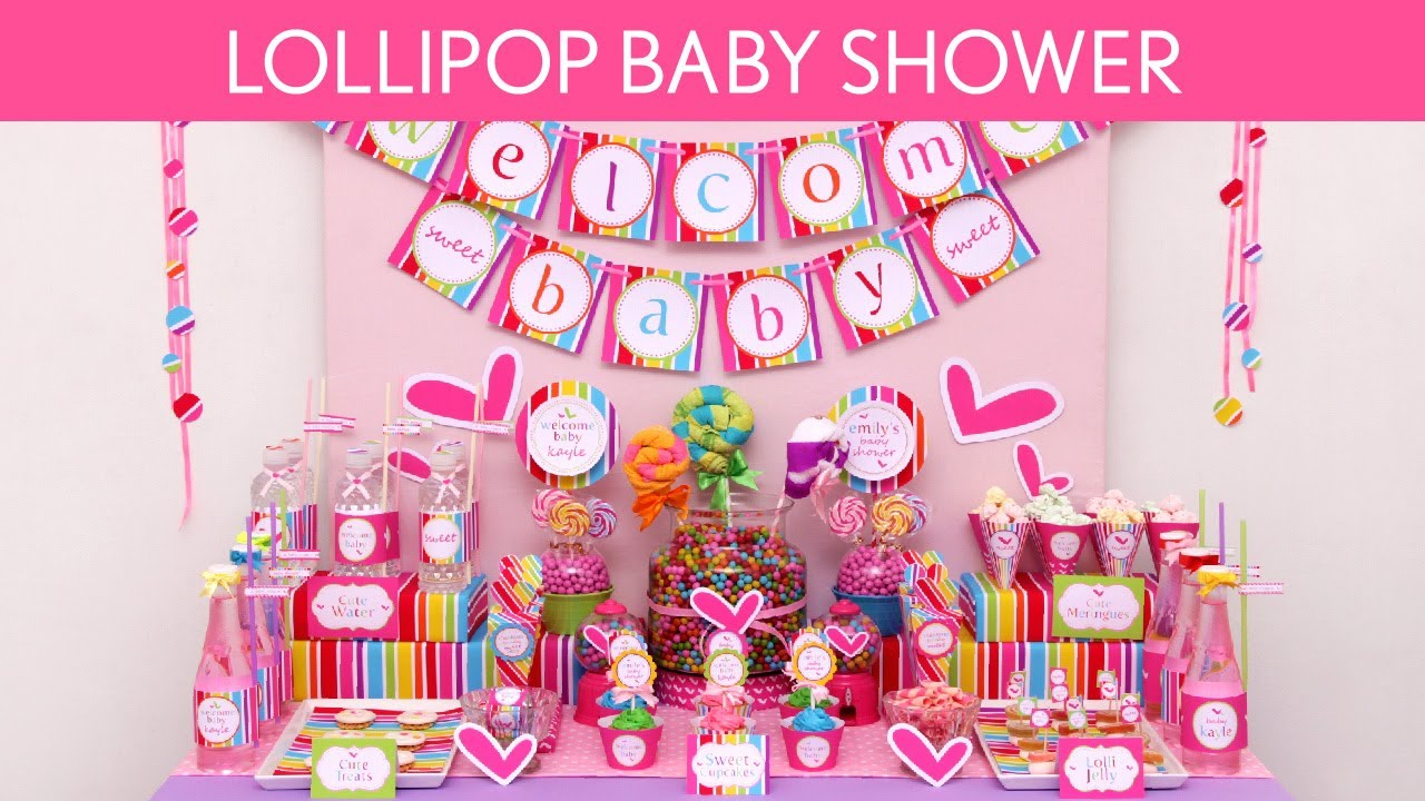 Lollipop Baby Shower Party Ideas // Lollipop   S15   YouTube
