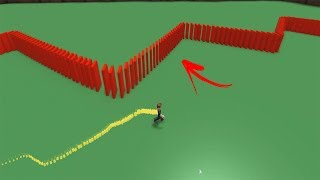 MADE a TRAIL of GIANT DOMINOES on ROBLOX and I DROPPED EVERYTHING!!! (Domino Builder)