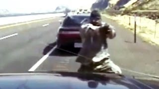 Deadly gunbattle with state trooper - caught on tape