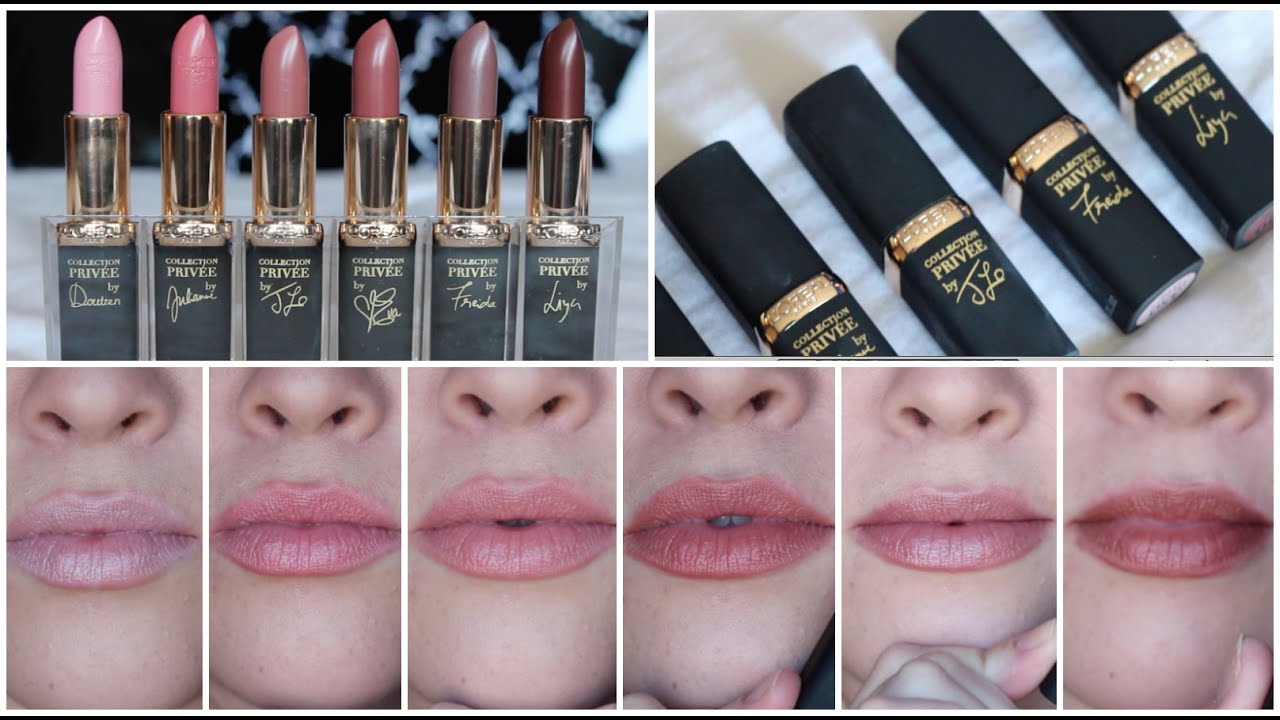 Loréal Collection Privee The Perfect Nudes Lipstick Review All 6 Shades