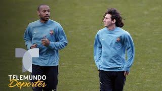 Messi y Henry, la delantera que pudo cambiar la historia... del Real Madrid | Telemundo Deportes