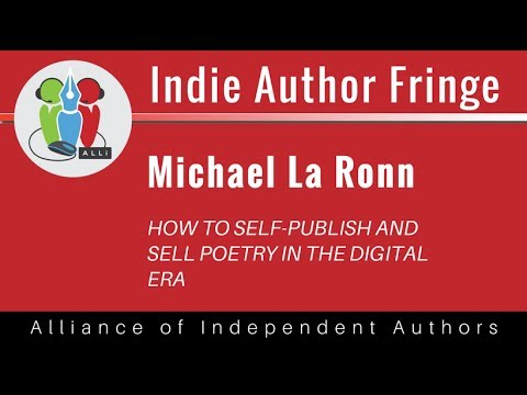 How To Self-Publish and Sell Poetry in the Digital Era: Michael La Ronn