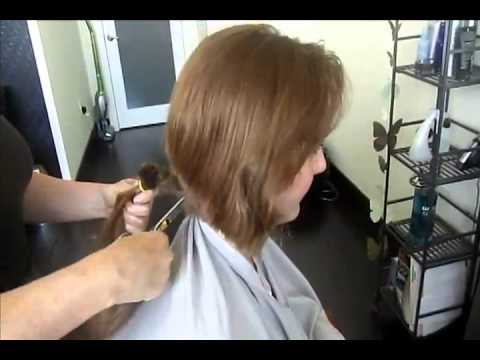 a girl cuts off her ponytail and gets a pixie  youtube