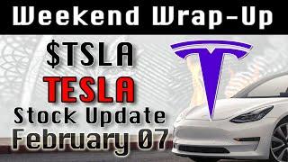TESLA : TSLA Weekend Wrap-Up Feb-07 StockMarket Technical Analysis Chart