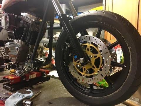 Harley FXR Custom Build    Ep 3  Front end upgrade