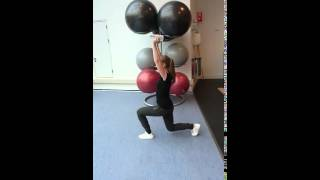 Lunge overhead dumbell