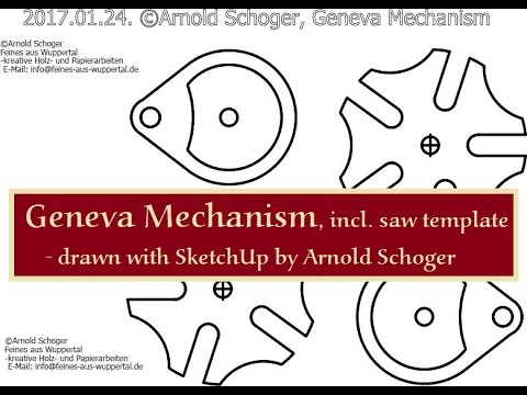 geneva mechanism saw template incl drawn with sketchup by arnold