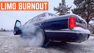 DONUTS And BURNOUTS In My Cheap LIMOUSINE Lincoln Towncar
