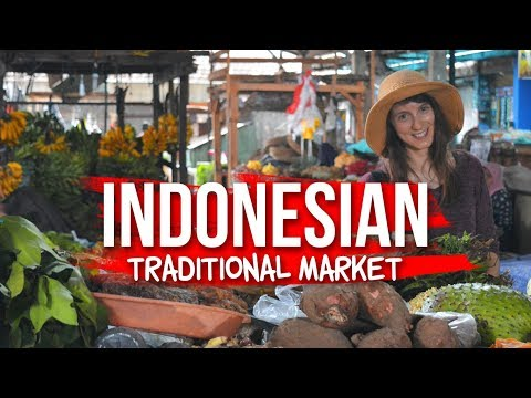 Indonesian Traditional Market - Globe in the Hat #8